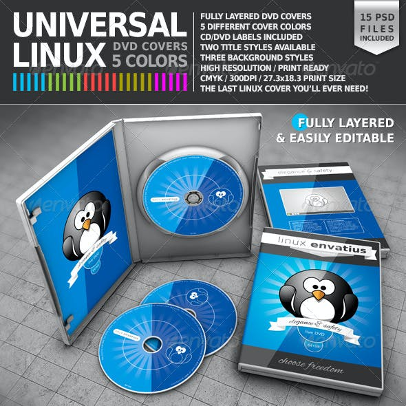 Universal Linux DVD Cover Pack