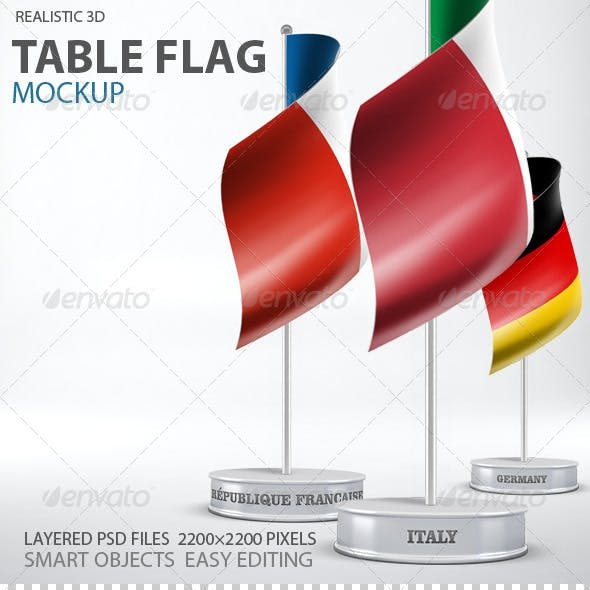 Table Flag Mockup