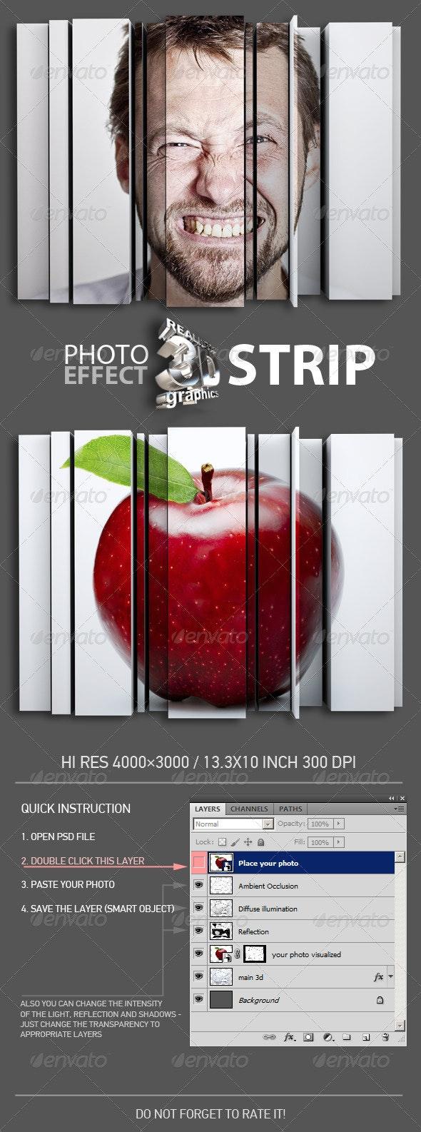 3D Strip Photo Effect - Miscellaneous Photo Templates