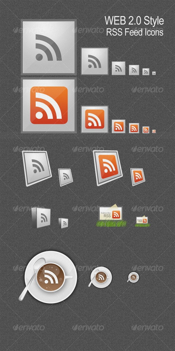 RSS Feed Icons - Web Icons