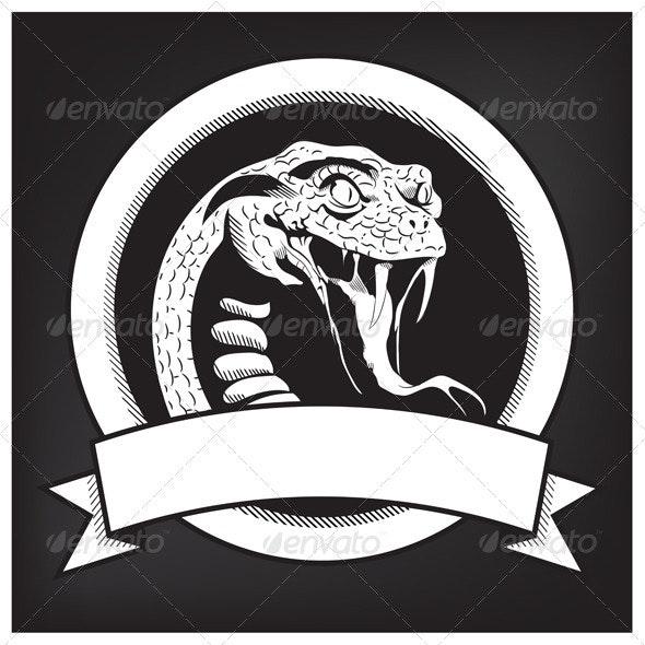 Snake Illustration Emblem - Animals Characters