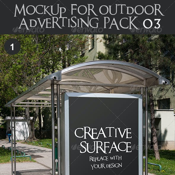10 Mock Up's for Outdoor Advertising Pack 3