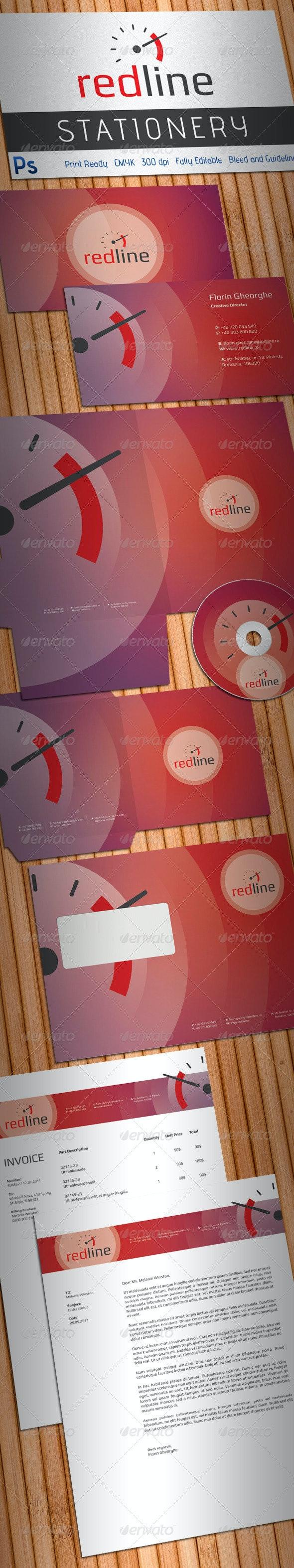 Redline High Performance Auto Parts Stationery - Stationery Print Templates