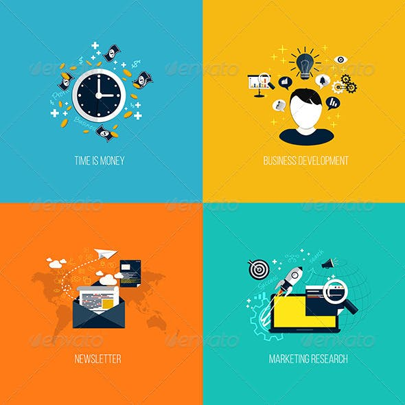 Icons for Time is Money, Business Development