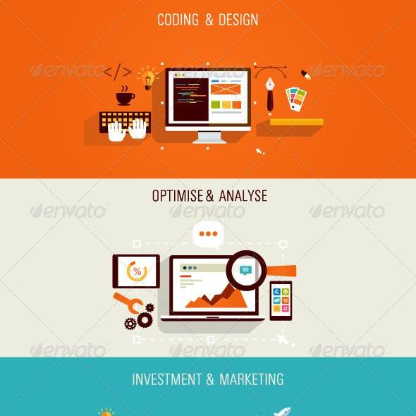 Web Development and Internet Marketing Concept