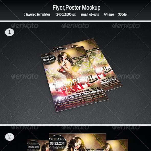 Flyer,poster Mockup
