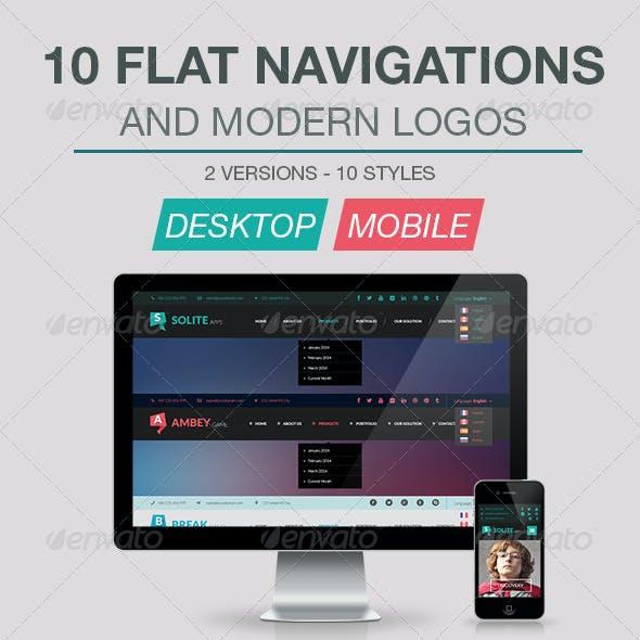 10 Flat Navigations