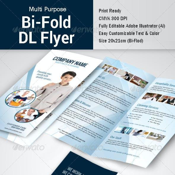 Multipurpose Bi-fold DL Flyer