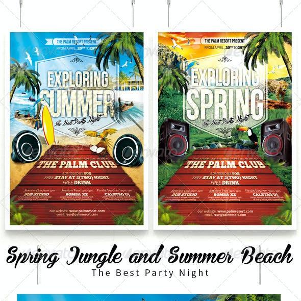 Exploring Spring Break Jungle & Summer Beach Flyer