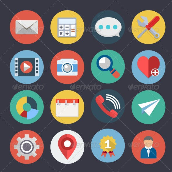 Flat Icons for Web and Applications Set 4