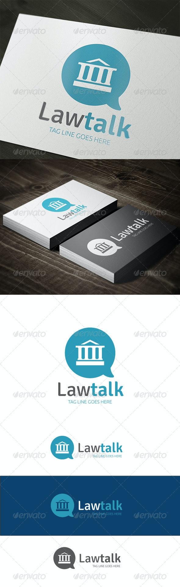 Law Talk - Buildings Logo Templates