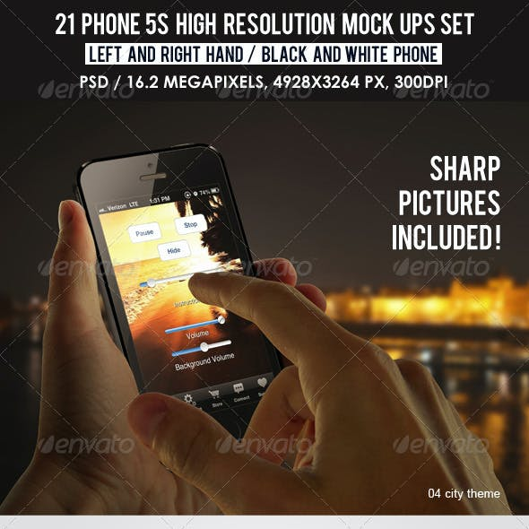 21 Phone 5s high resolution Mock Ups Set