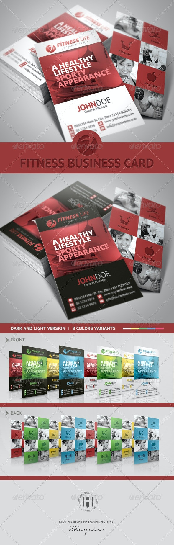 Fitness Business Card - Corporate Business Cards