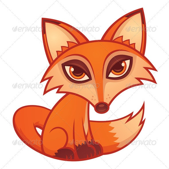 Cartoon Red Fox - Animals Characters