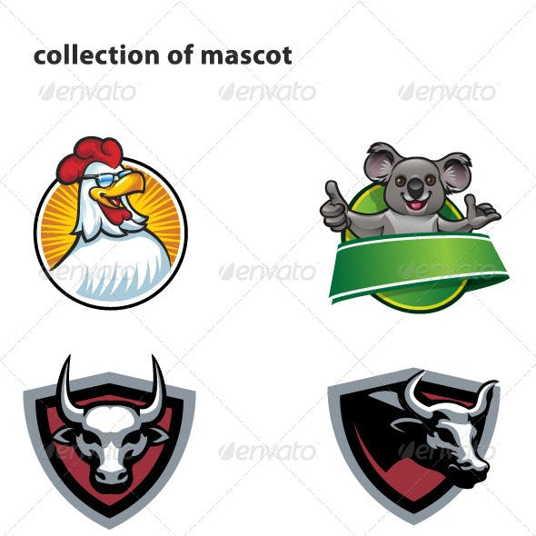 Collection of mascot
