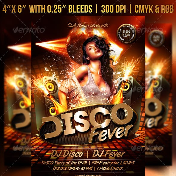 Disco Fever Flyer
