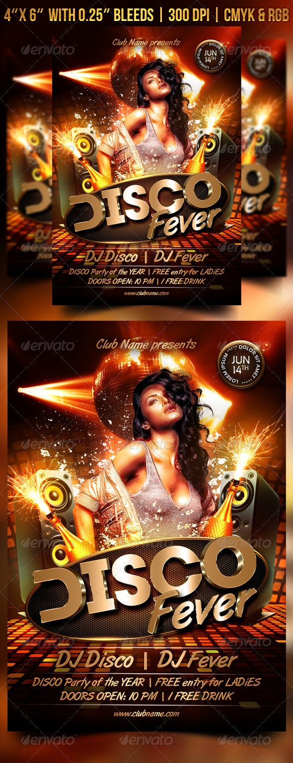Disco Fever Flyer - Clubs & Parties Events