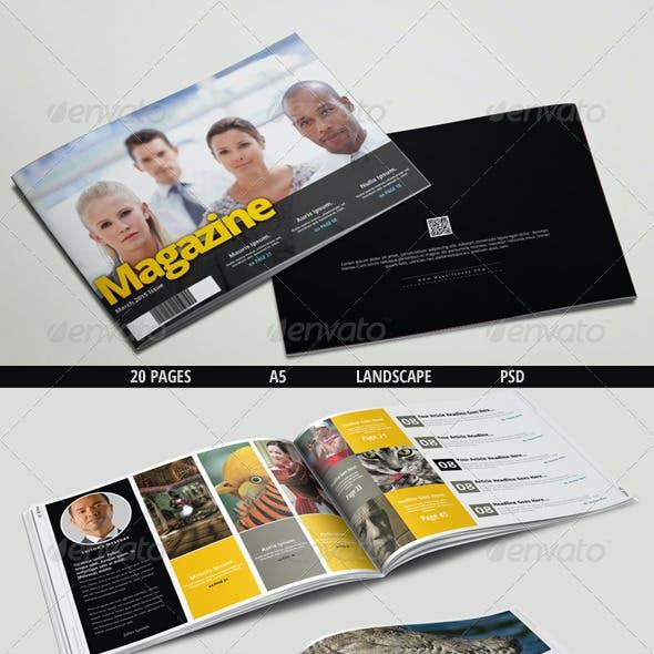 Multipurpose Landscape Magazine - A5 PSD