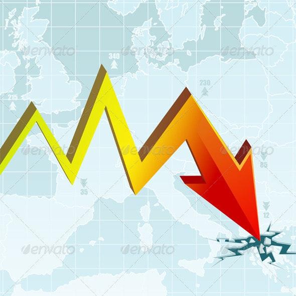 Economic Crisis Graph - Concepts Business