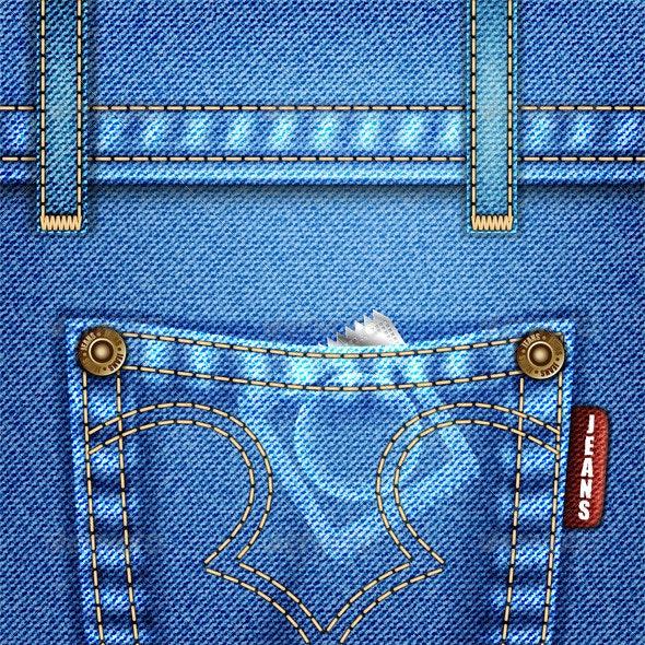 Jeans Texture - Backgrounds Decorative