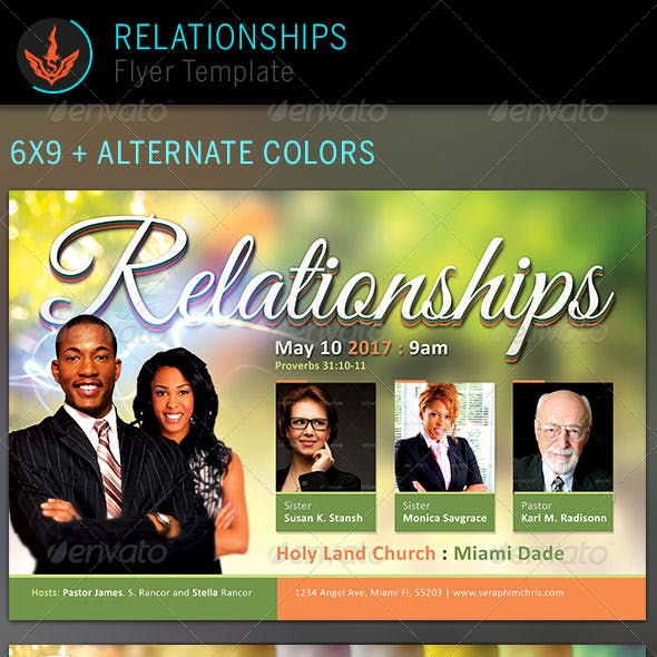 Relationships: Church Flyer Template