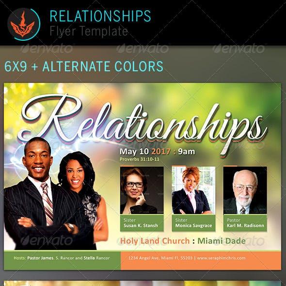 Relationships: Church Flyer Template