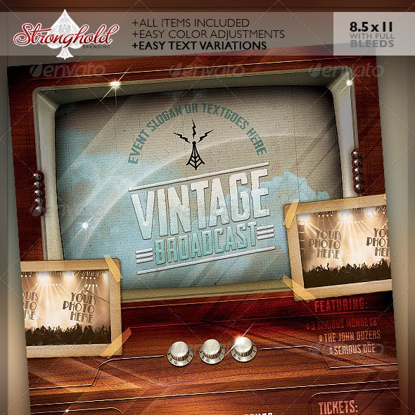 Vintage Television Broadcast Event Template