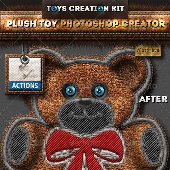 Stitched Furry Plush Toys Photoshop Creator