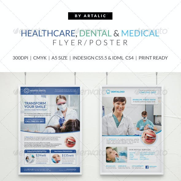 Healthcare, Medical & Dental Flyer/Poster Pack