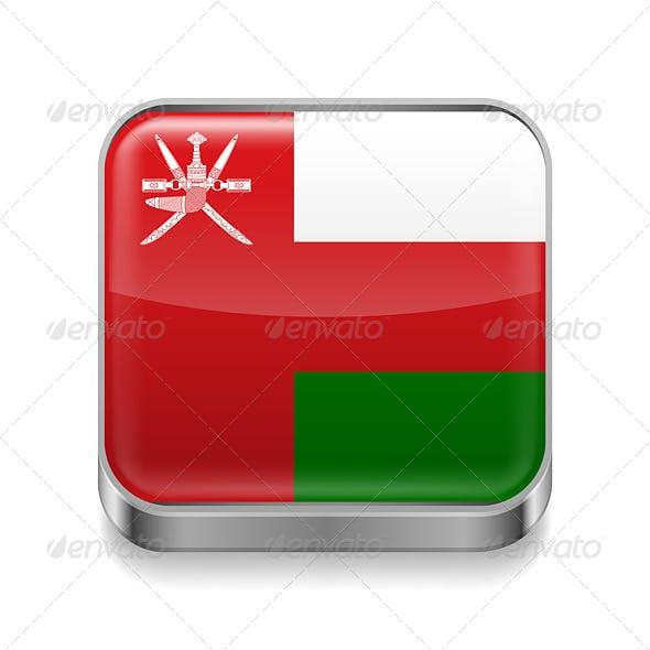 Metal Icon of Oman
