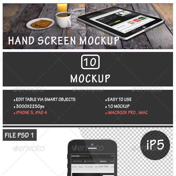 Hand Screen Mockup