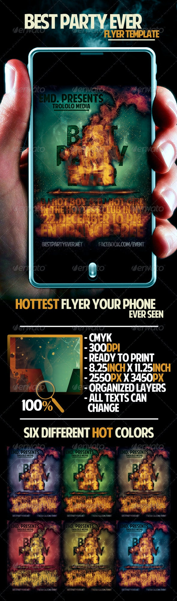 Party Ever Flyer Template - Clubs & Parties Events