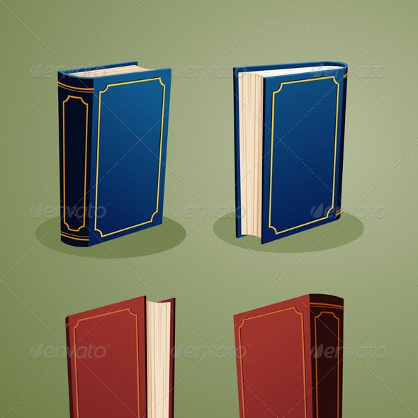 Illustration of Books In Various Angle