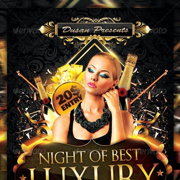 Night Of Luxury Flyer Template