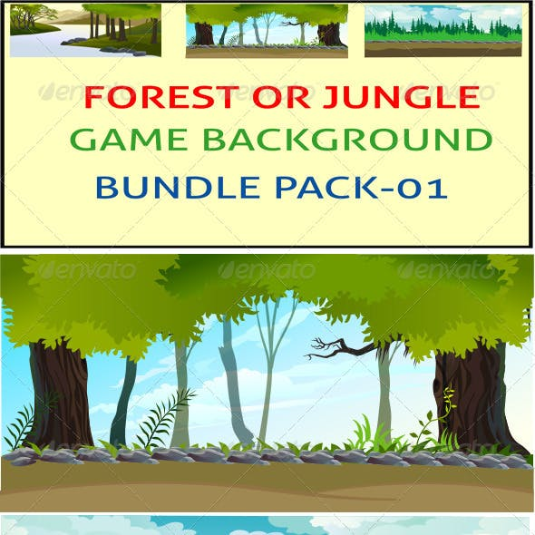 Forest or Jungle Game Background Bunddle
