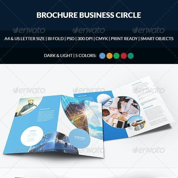 Brochure Business Circle Bi-Fold