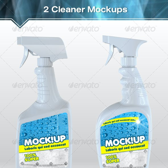 2 Cleanser Bottle Mockups