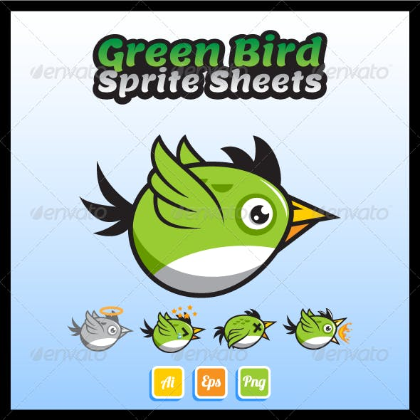 Green Bird Game Character