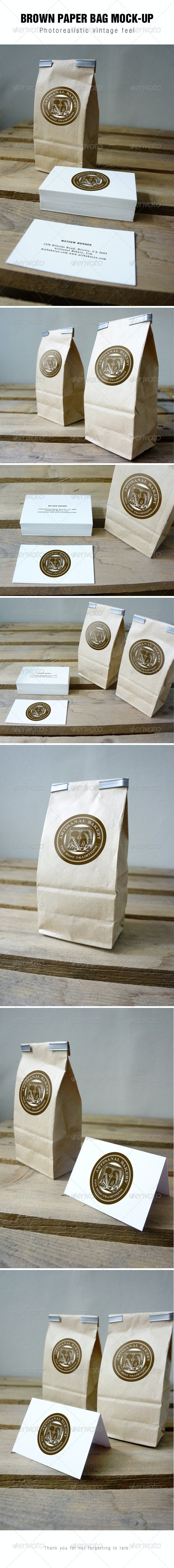 Brown Paper Bag Mockup - Packaging Product Mock-Ups