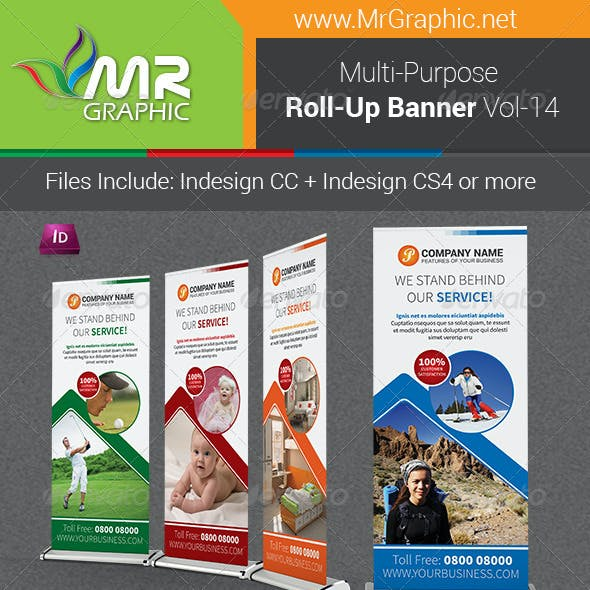 Multi-Purpose Business Roll-Up Banner Vol-14