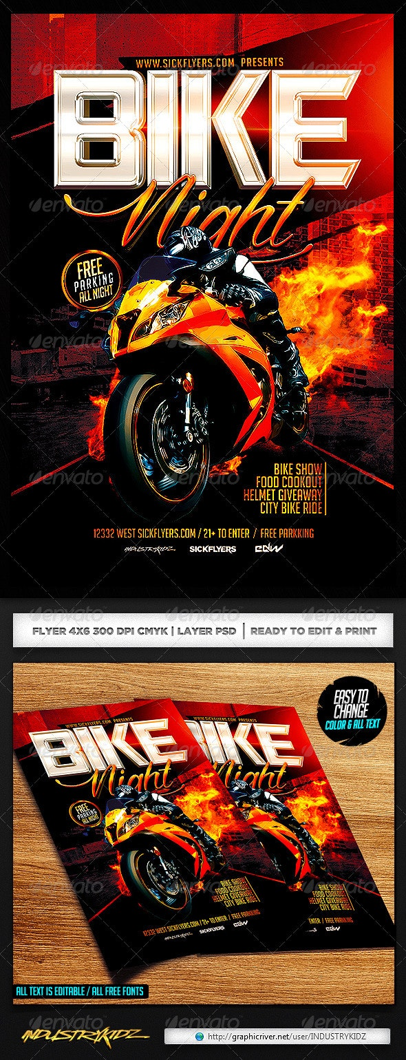 Bike Night Flyer Template - Events Flyers