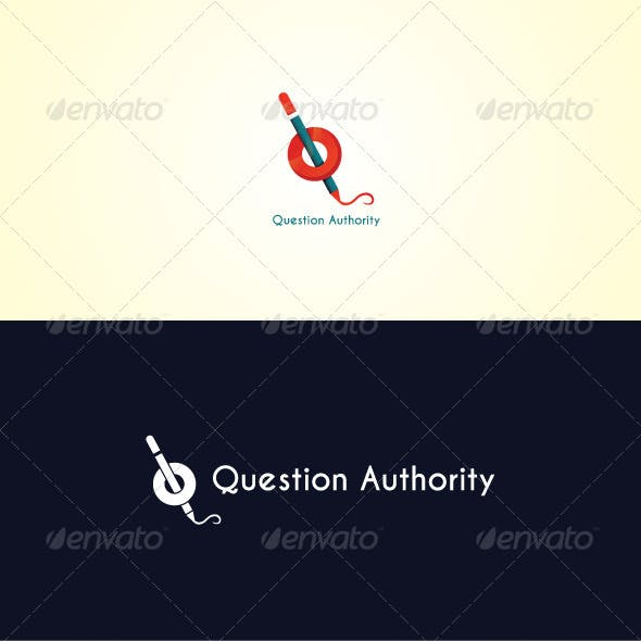 Question Authority Stock Logo Template