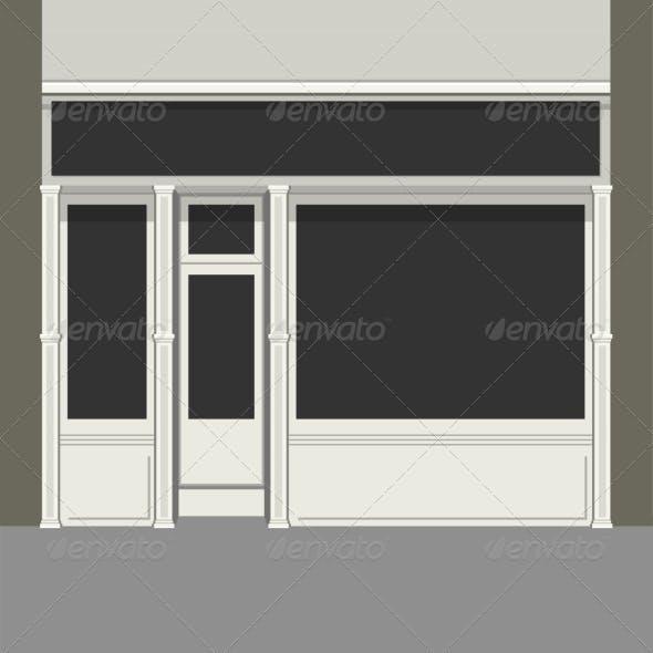 Shopfront with Black Windows