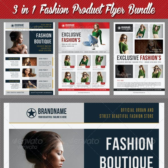 3 in 1 Fashion Product Flyer Bundle 14