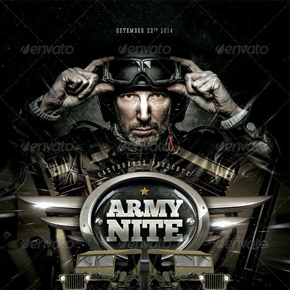 Army Nite Flyer Template