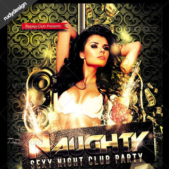 Naughty Sexy Night Club Party Flyer