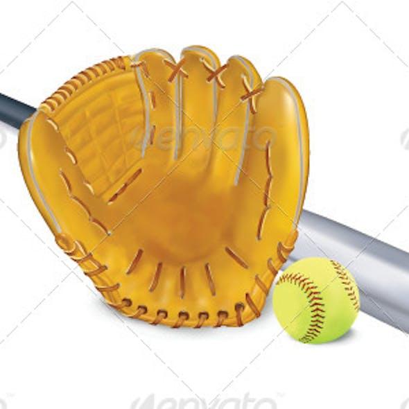 Baseball Equipment Vector Set