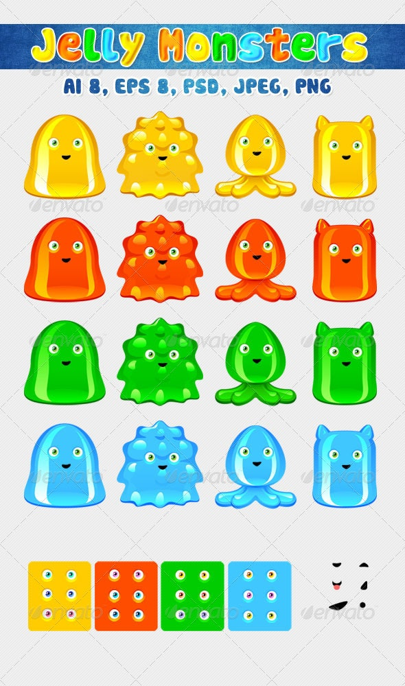 Jelly Monsters - Monsters Characters