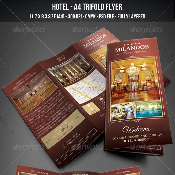 HOTEL - A4 TRIFOLD FLYER