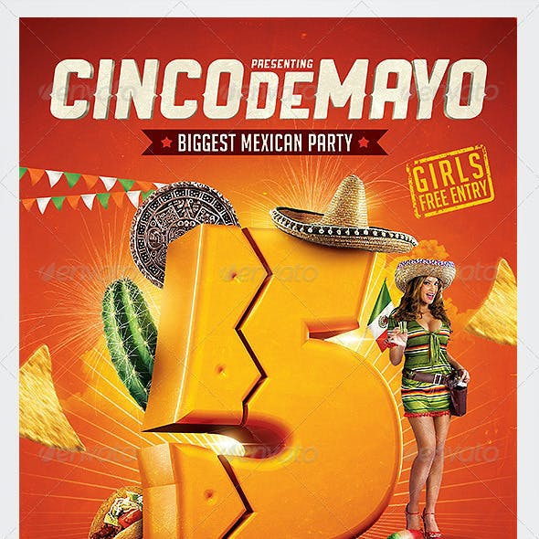 Cinco de Mayo Party Flyer 4